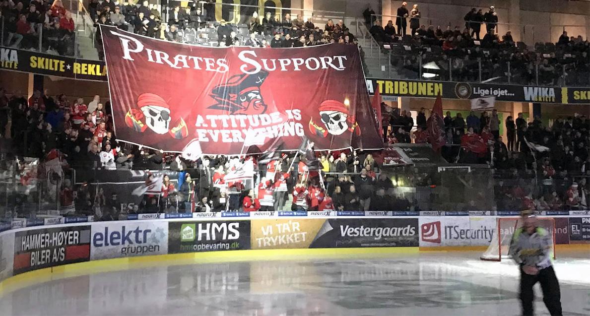 Aalborg Pirates Support Tifo